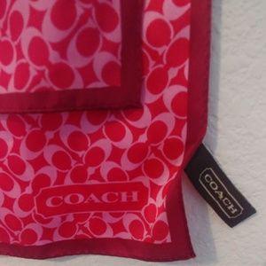 Coach 58 Inch 100% Silk Logo Scarf